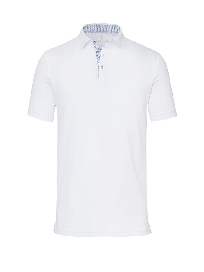 Desoto Jersey-Polo - Bügelfrei, white uni