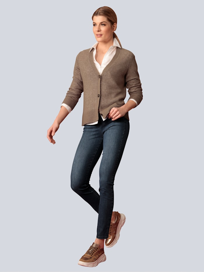 "Jeans ""Lea N"" mit rückwärtigem Schlitz"