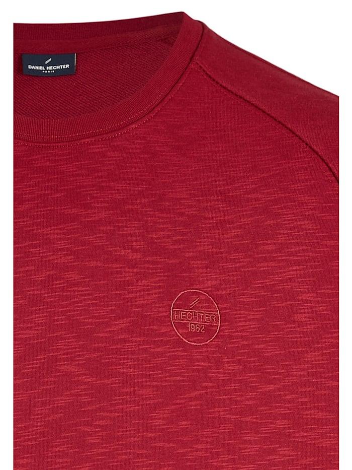 Sportives Sweatshirt in Melange-Optik