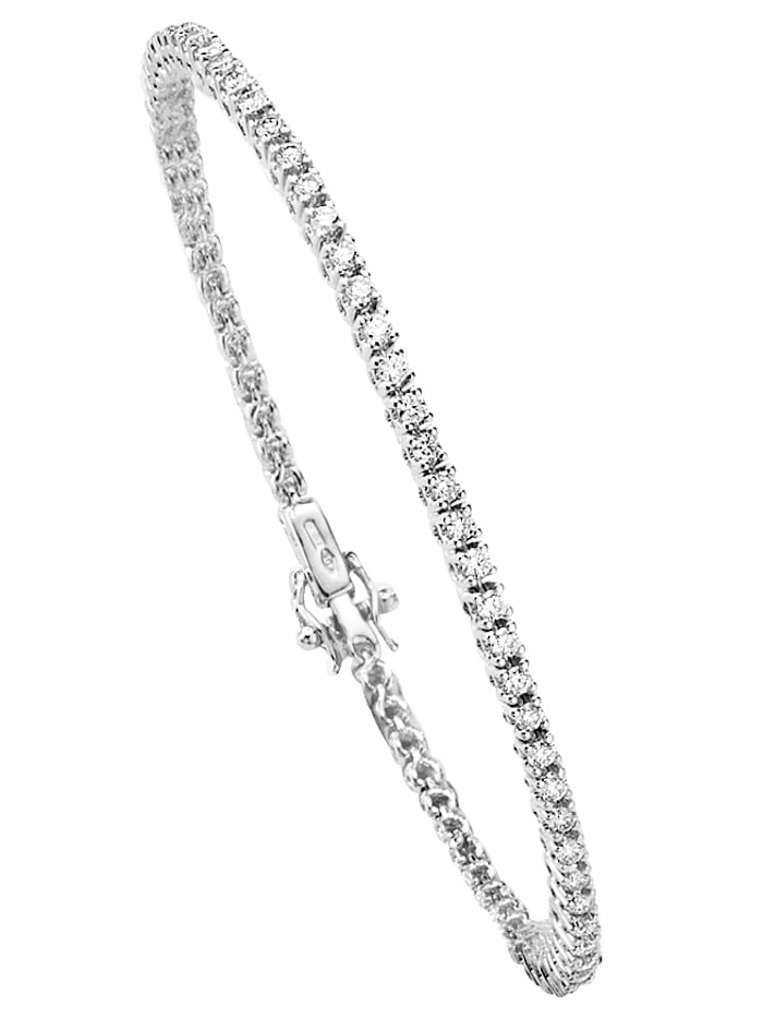 Valkokultainen timanttirannekoru