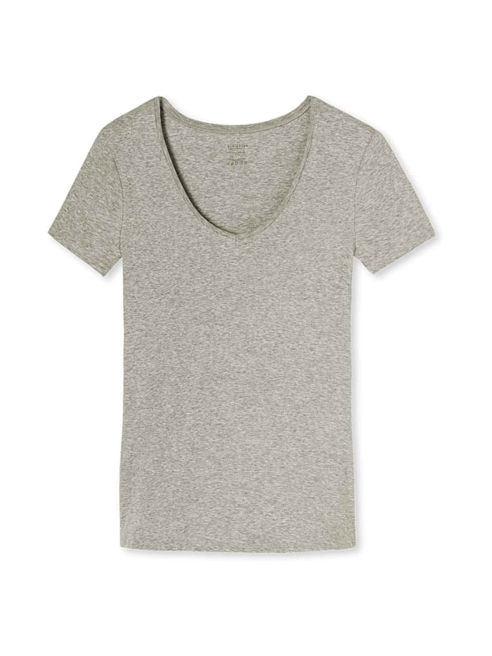 Schiesser Halbarmshirt, grau-melange