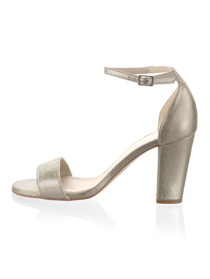 Sandalette aus hochwertigem Ziegenleder