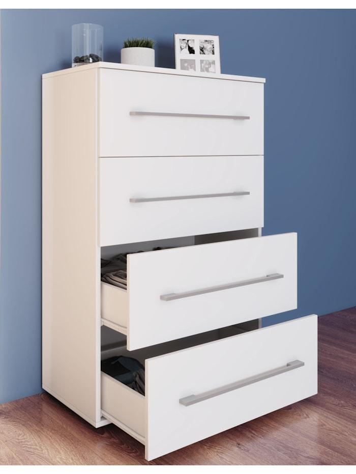 VCM Kommode mit Schubladen Sidal XL4, Weiß