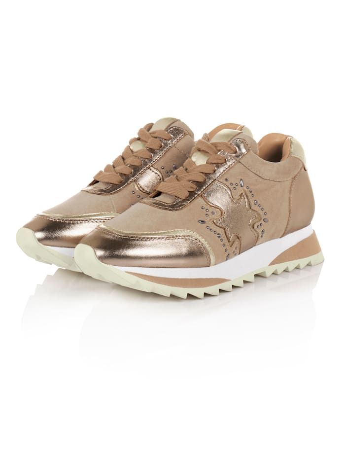Alma en Pena Sneaker, Bronzefarben