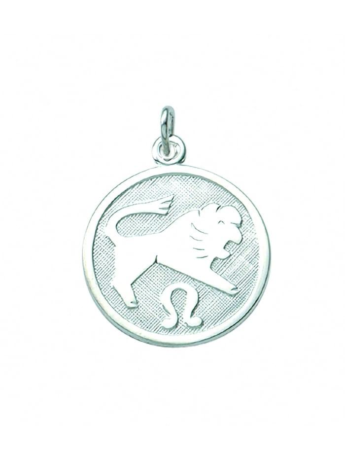 1001 Diamonds Damen & Herren Silberschmuck 925 Silber Sternzeichen Anhänger Löwe Ø 15,7 mm, silber