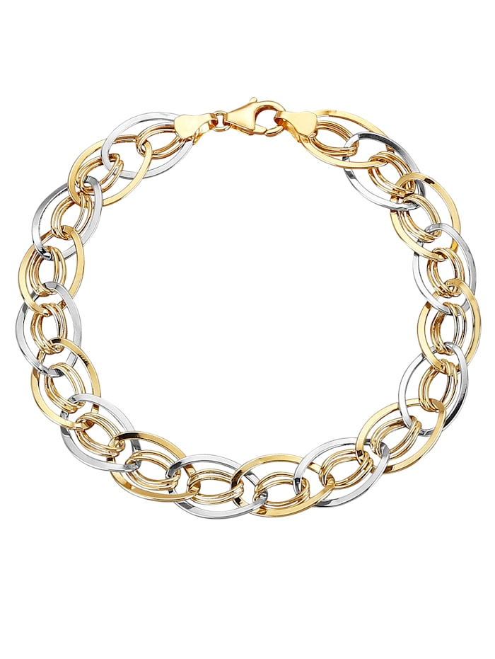 Armband in Gelbgold 375, Multicolor