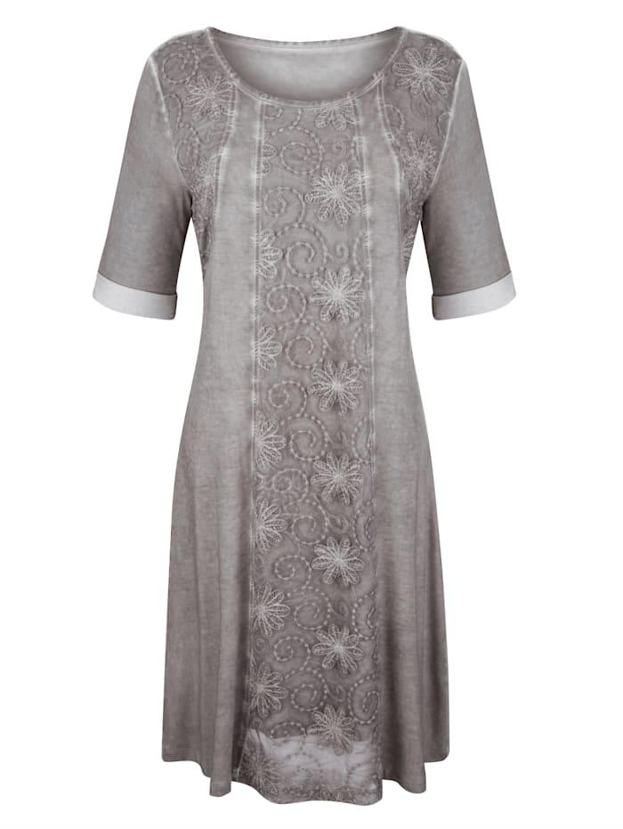 AMY VERMONT Kleid mit Stickerei, Grau