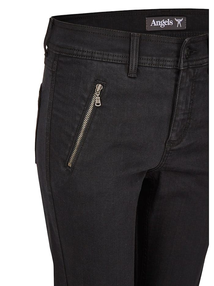 Jeans 'Skinny Pocket' mit Reißverschlusstaschen