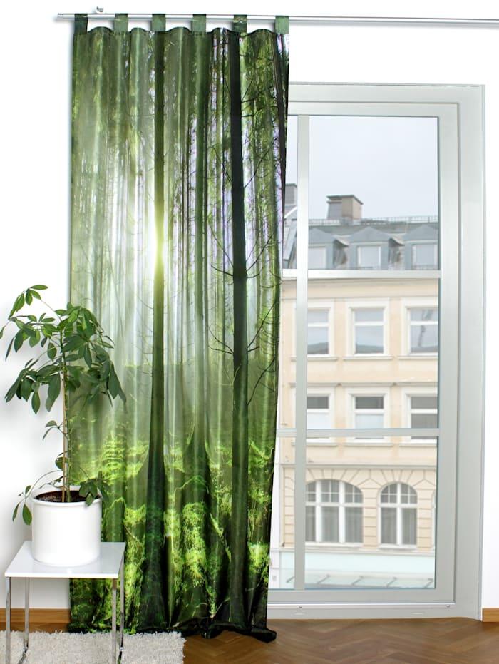 Home Wohnideen Gardin med fotoprint, Grön