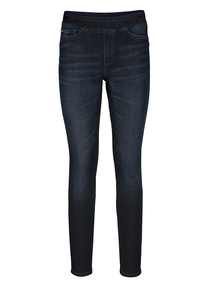 Jeans mit elastischem Glitzerbund