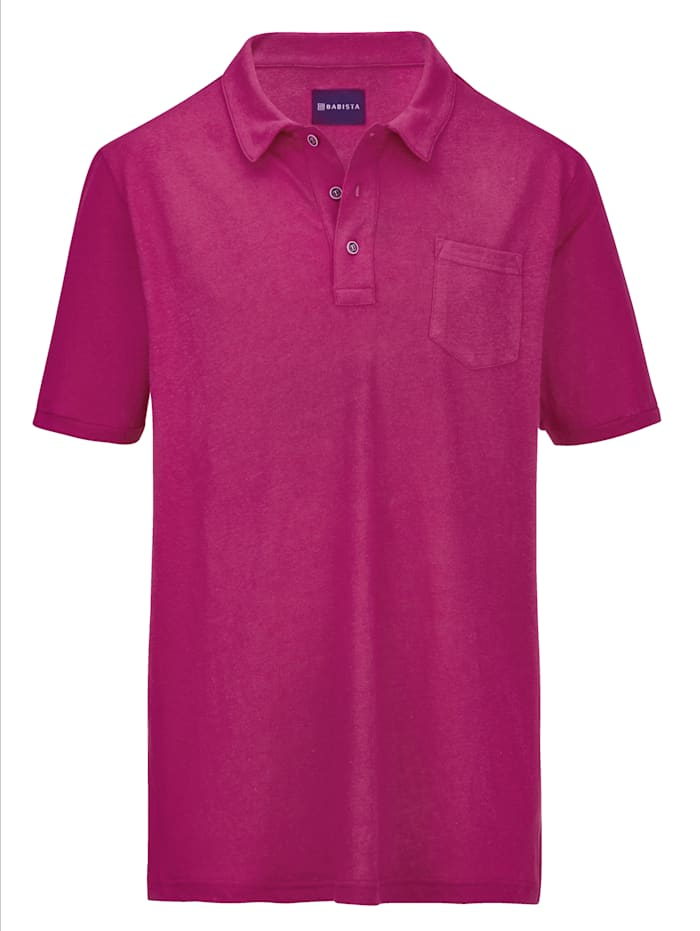 BABISTA Poloshirt van zomers lichte stof, Fuchsia