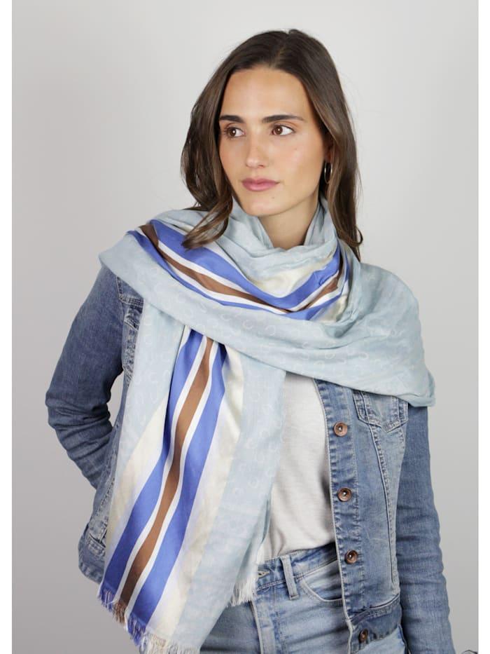 Logo-Schal mit gewebten Streifen
