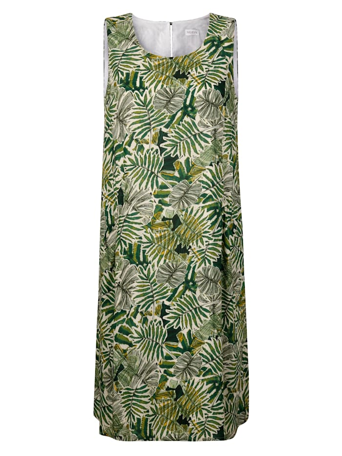 Kleid mit tropischem Blätter-Druck