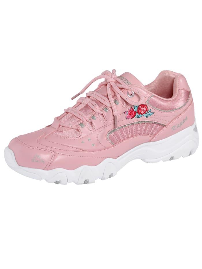 Sneaker mit floraler Rosenstickerei