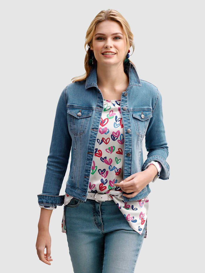 Jeansjacke in klassischer Form