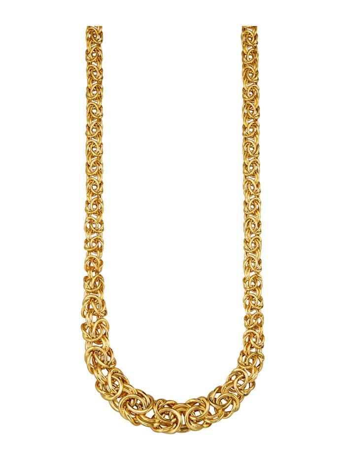 Diemer Gold Halsband av kejsarlänk med doserad bredd, Guldfärgad