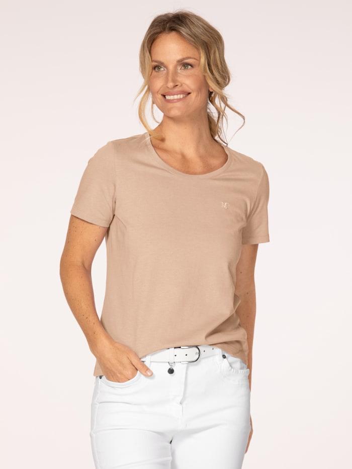 MONA Shirt aus Cotton made in Africa, Haselnuss