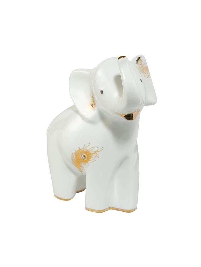 """Goebel Goebel Figur Elephant - """"Alamaya"""", Weiß-Gold"""