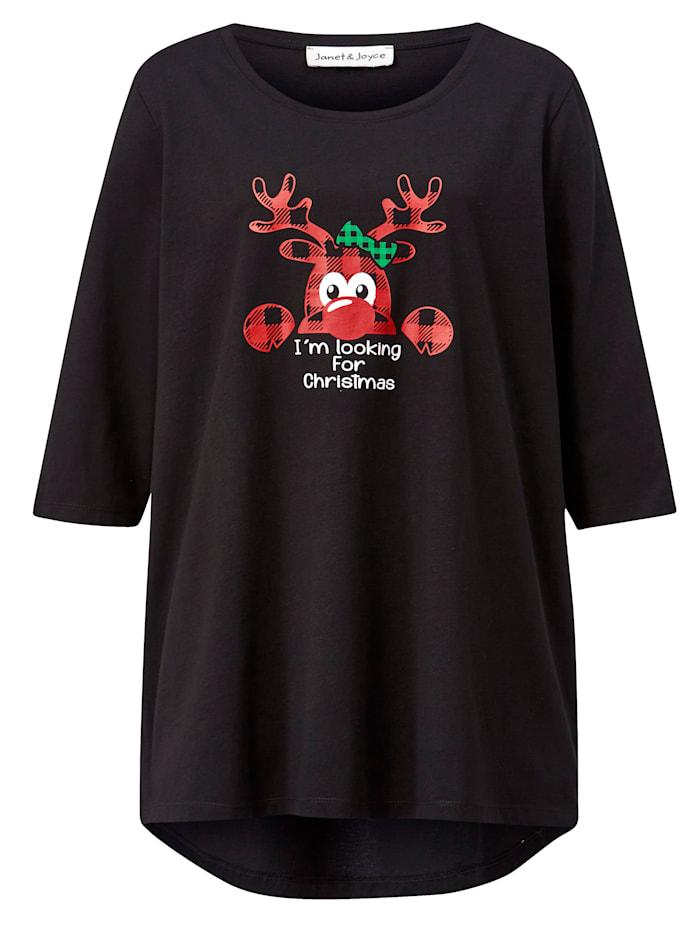 Shirt mit weihnachtlichem Druck