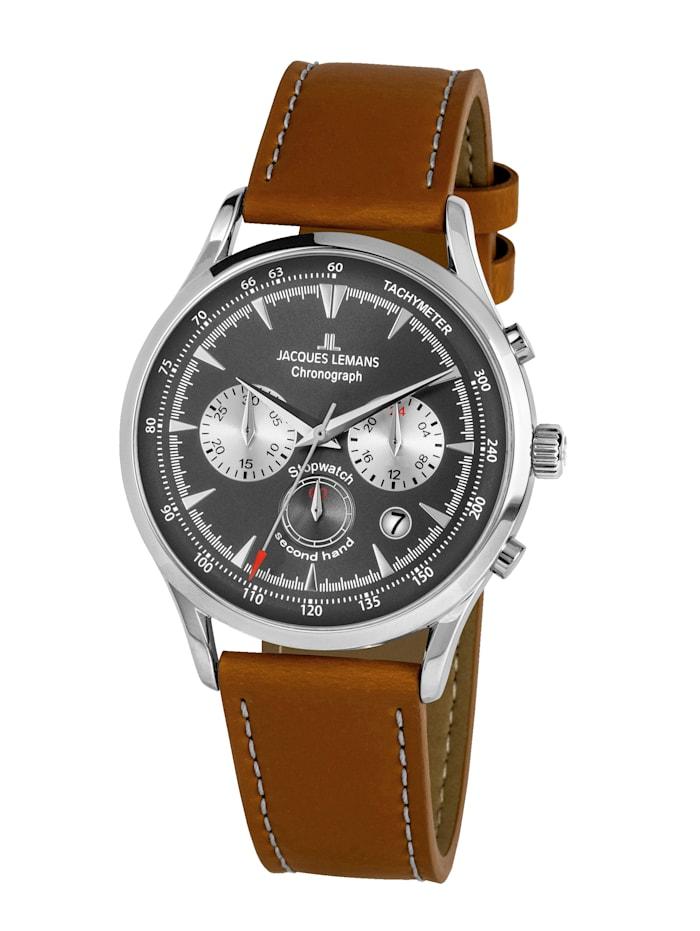 Jacques Lemans Herren-Uhr Chronograph Serie: Retro Classic, Kollektion: Retro Classic: 1- 2068B, Hellbraun