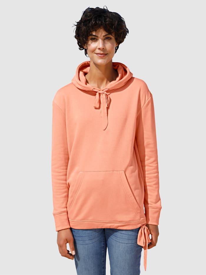 Dress In Sweat-shirt en matière douce, Abricot
