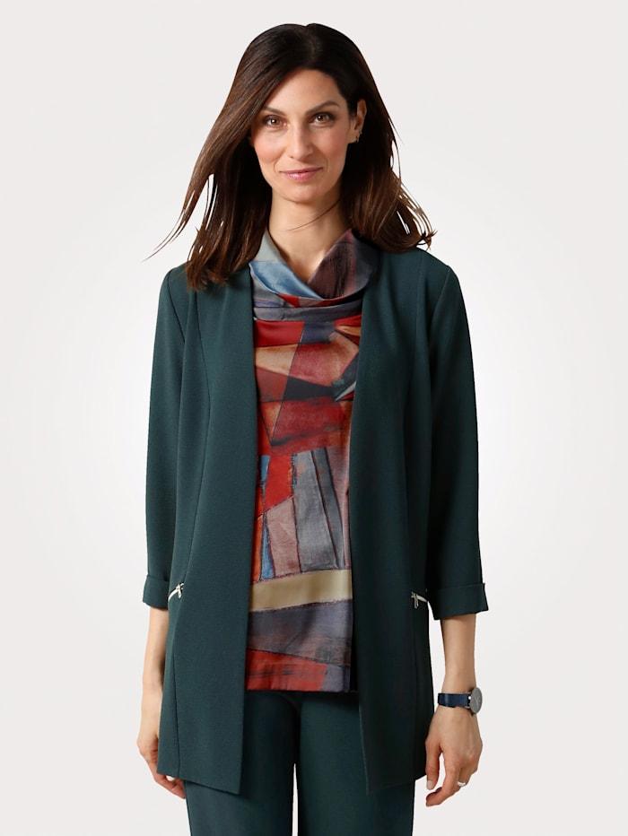 MONA Blazer in an edge to edge design, Green