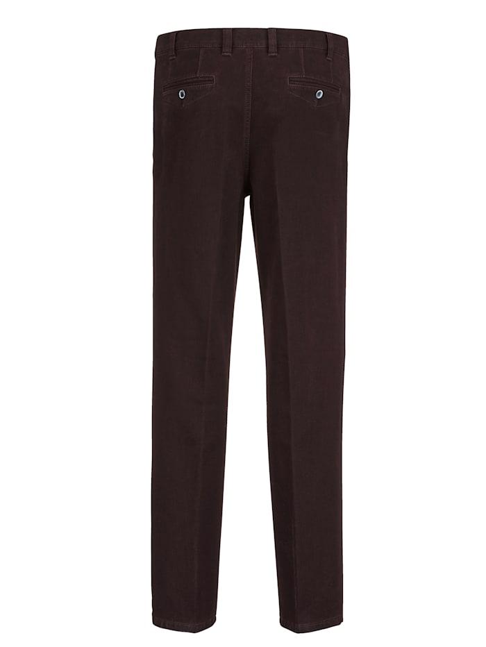 Pantalon en matière finement structurée