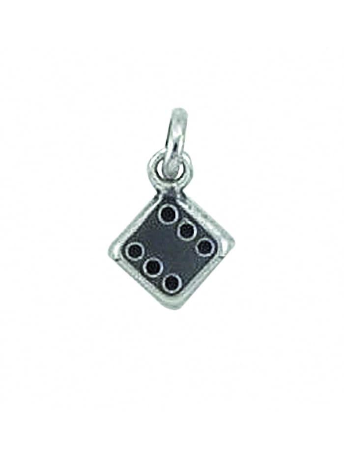 1001 Diamonds Damen Silberschmuck 925 Silber Anhänger Würfel, silber