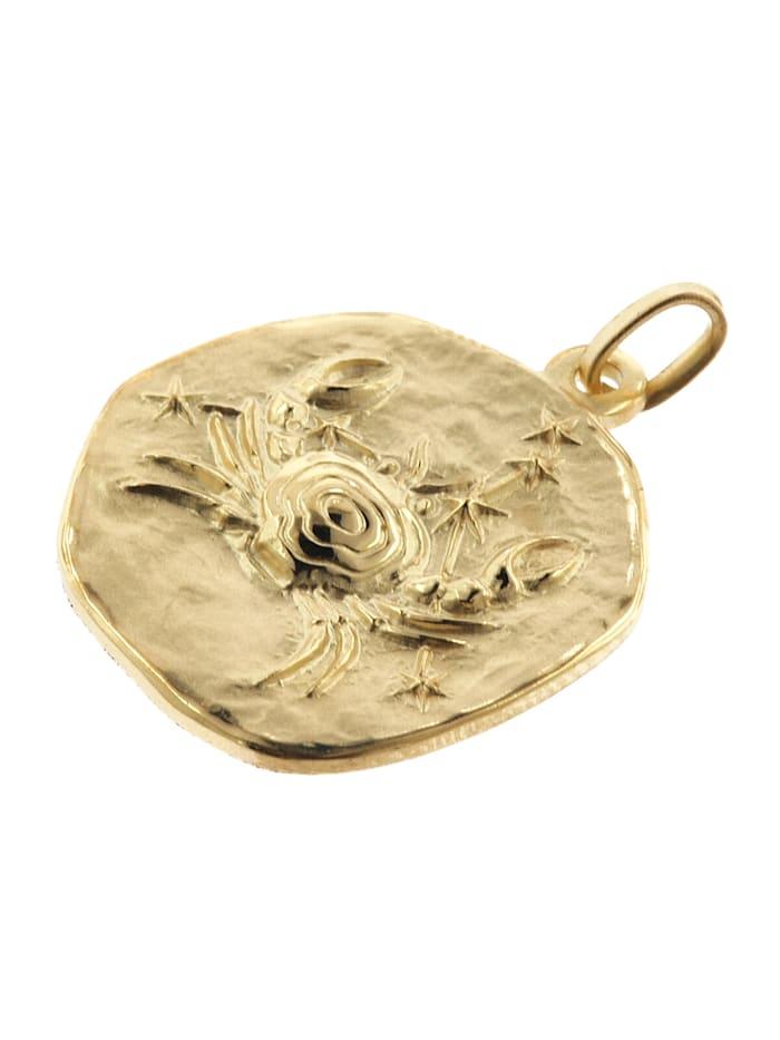 Krebs Sternzeichen Anhänger Herren-Halskette Gold auf Silber
