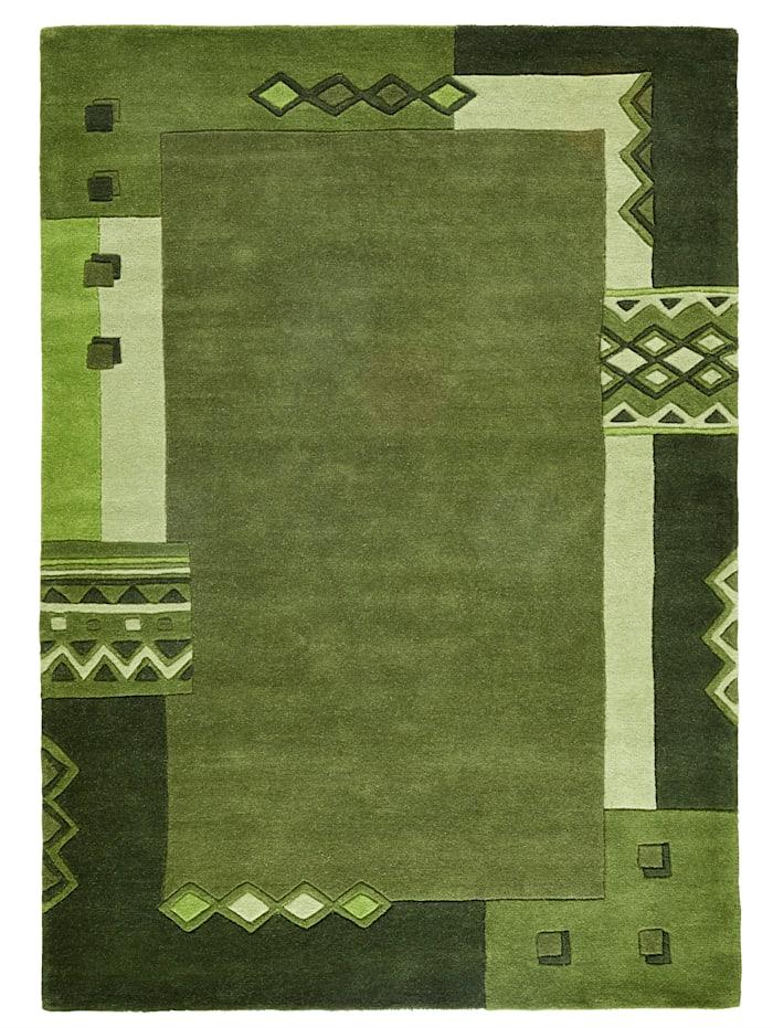 Theko®die Markenteppiche Handtuftteppich Sampath, Grün