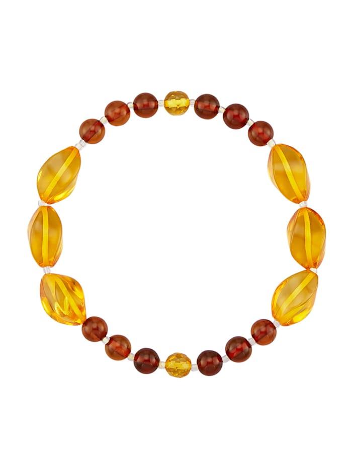 Bracelet Avec ambre, Jaune