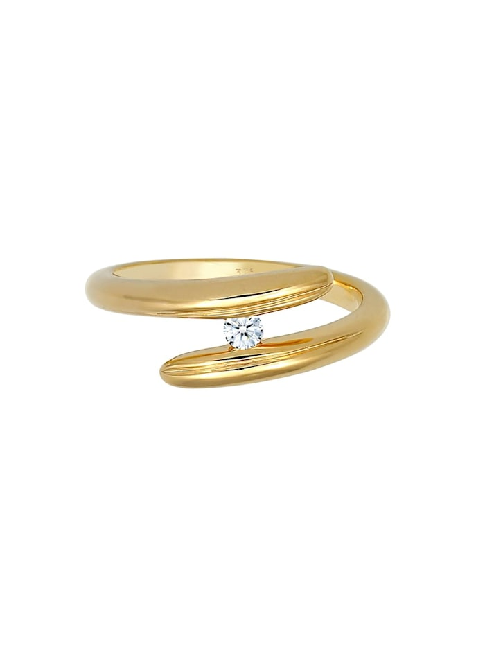 Ring Wickelring Diamant 0.06 Ct. 375 Gelbgold