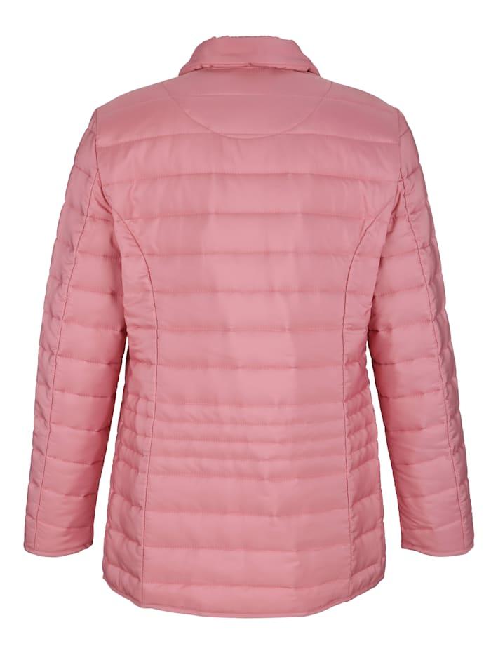 Jacke mit Faltenzier am Reißverschluss
