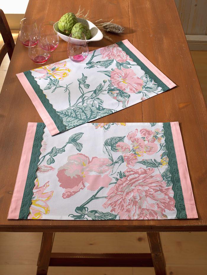 "Webschatz Linge de table ""Mathea"", Rose"