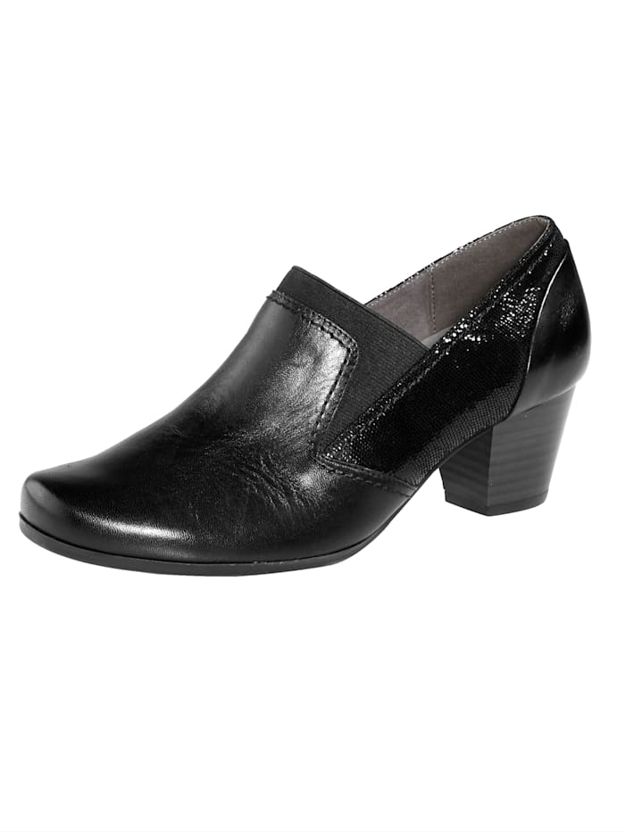 MONA Court shoes with a removable insole, Black