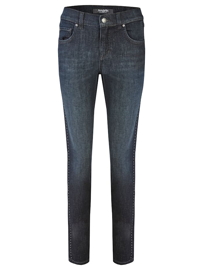 Angels Jeans 'Skinny Glam Galon' mit Nieten, night blue used buffi
