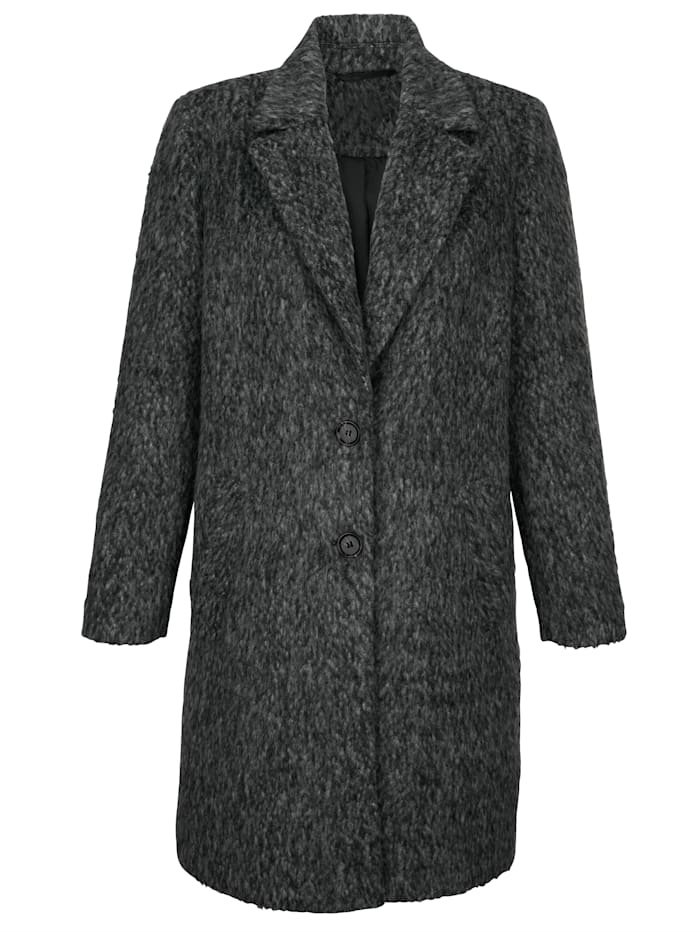 Coat made from faux wool