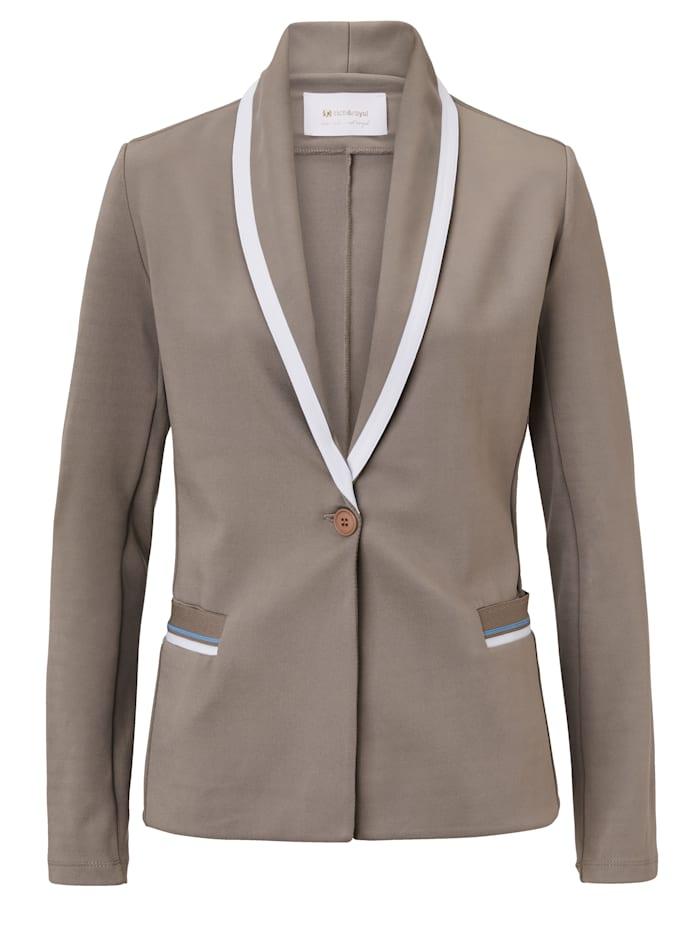 rich&royal Jersey Blazer, Grau