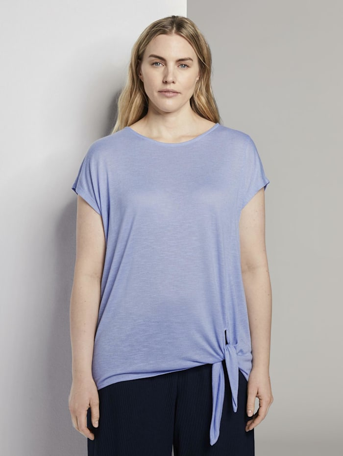 MY TRUE ME by Tom Tailor T-Shirt mit Knoten-Detail, Parisienne Blue