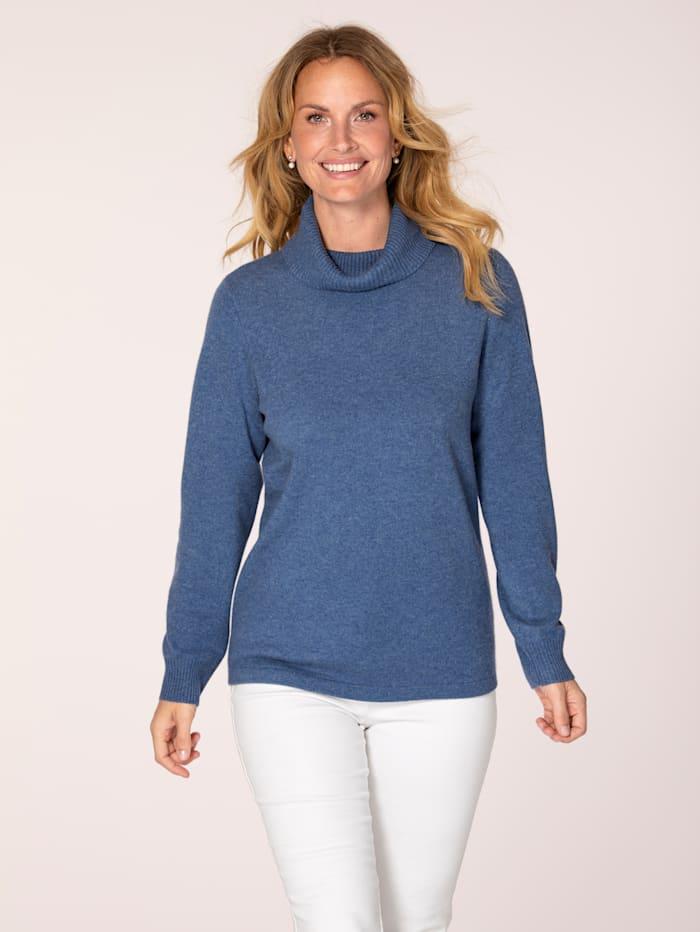 MONA Kaschmir-Pullover mit Rollkragen, Blau