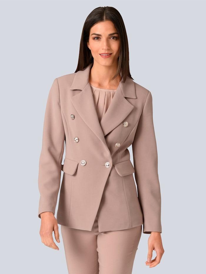 Alba Moda Jacke in modischer Blazerform, Rosé