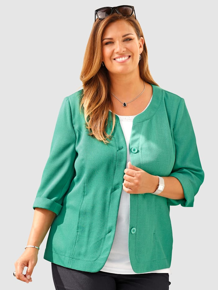m. collection Blazer in trendy boxy model, Groen