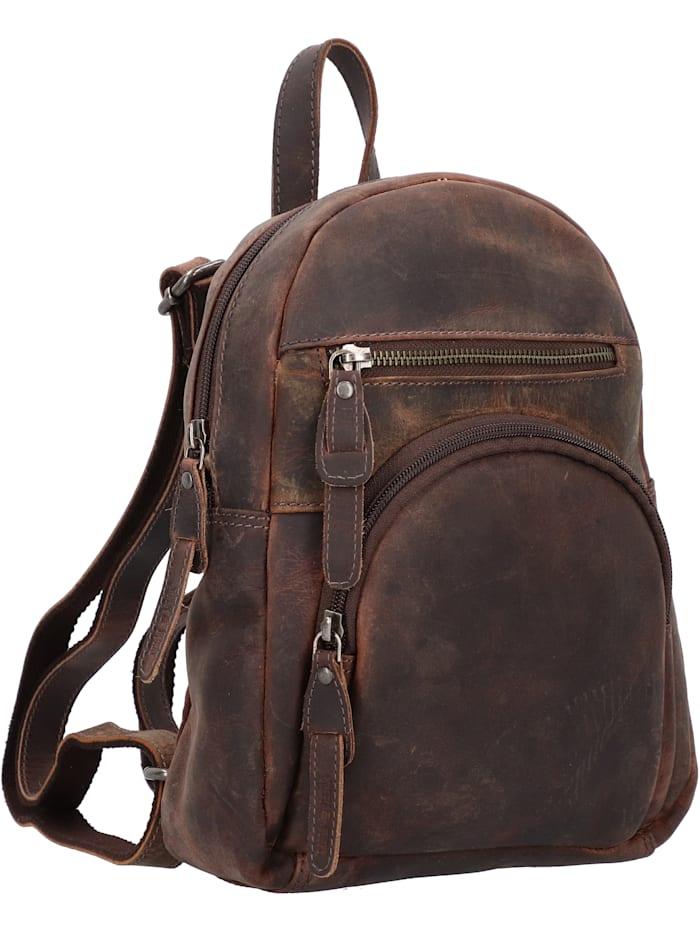 Vintage Revival City Rucksack Leder 26 cm