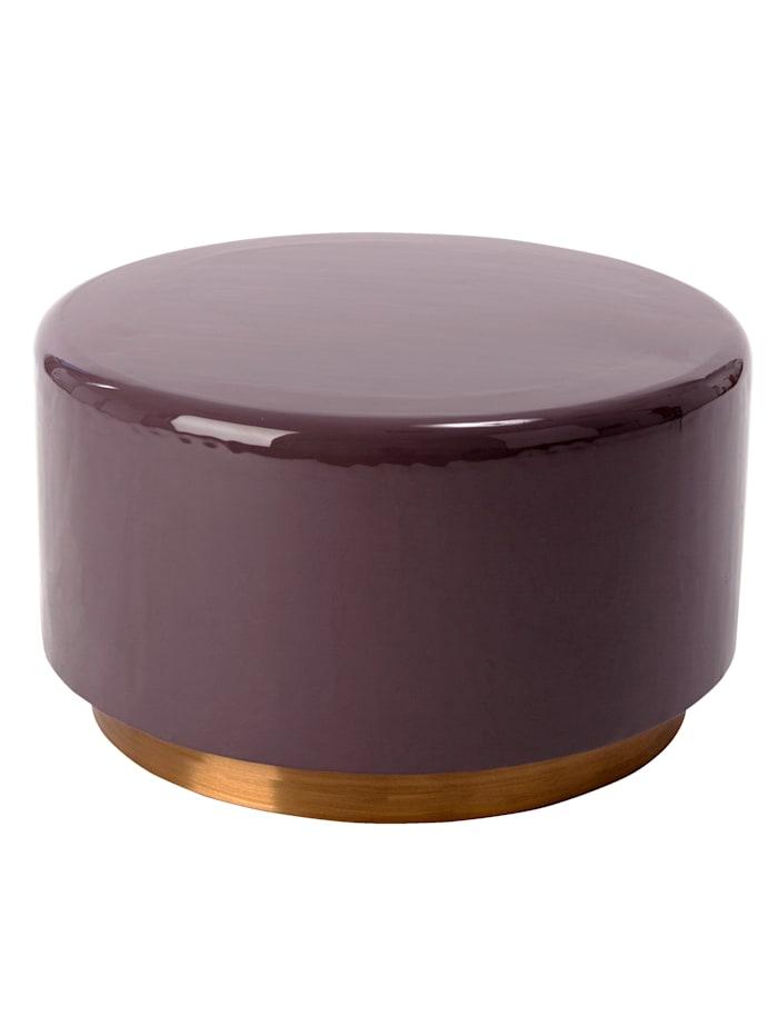IMPRESSIONEN living Table basse, Lilas/coloris doré