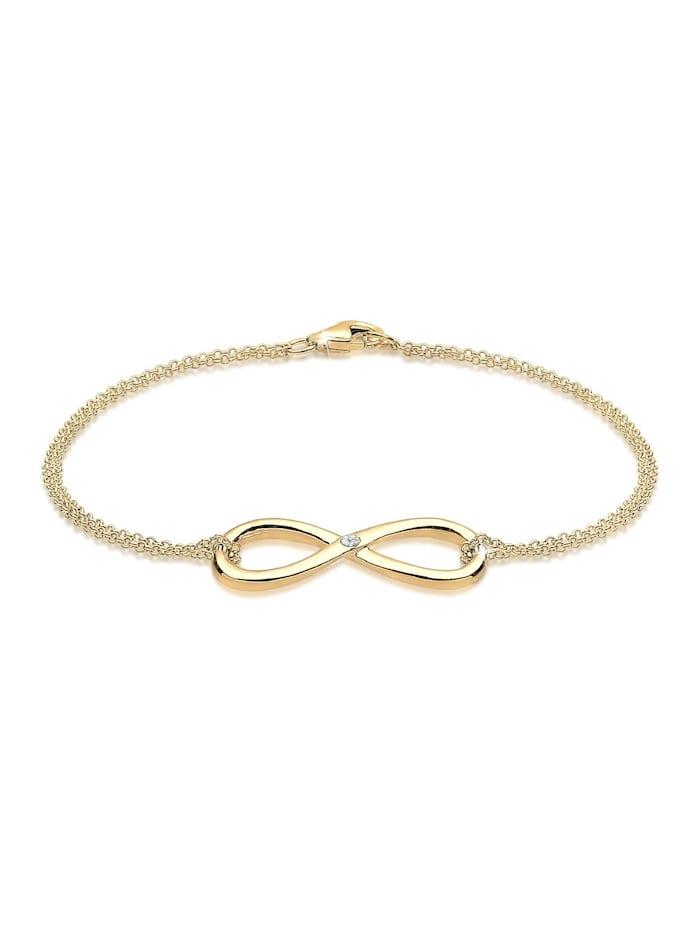DIAMORE Armband Infinity Ewig Diamant (0.03 Ct.) 925 Silber, Gold