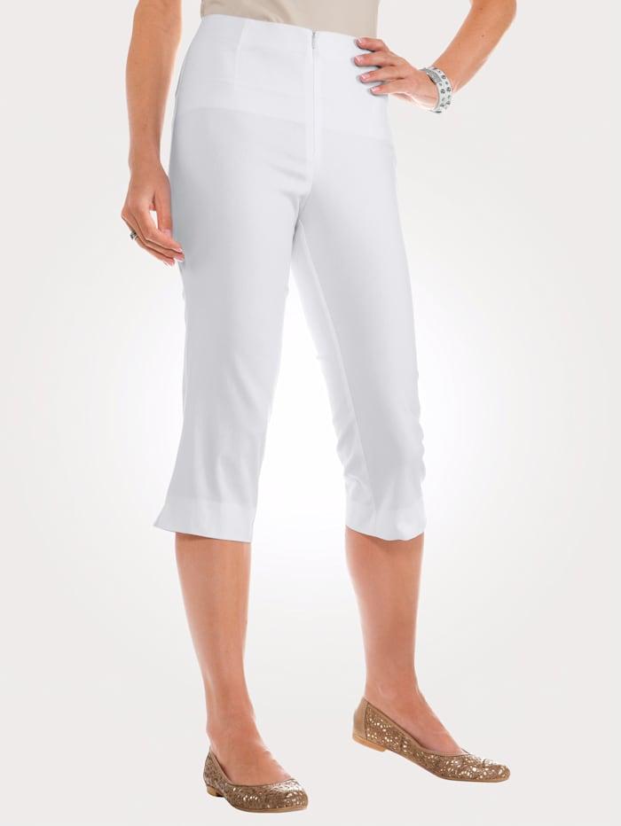 MONA Caprihose mit Baumwolle Basic, Weiß