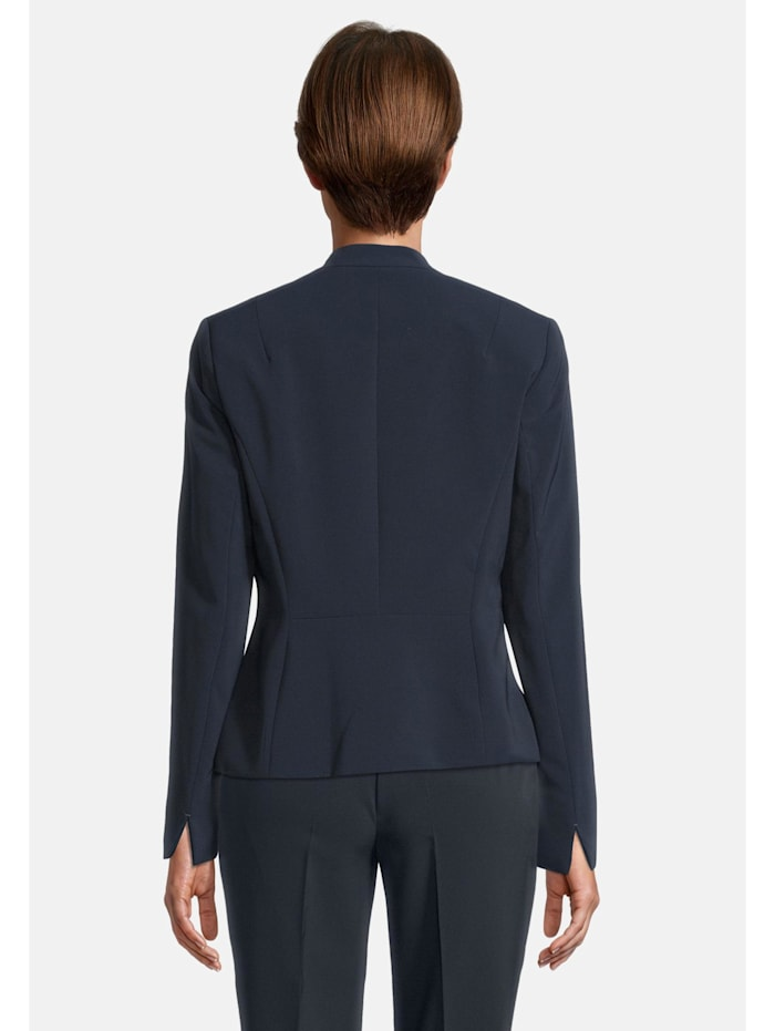Businessblazer mit Taschen Kragen
