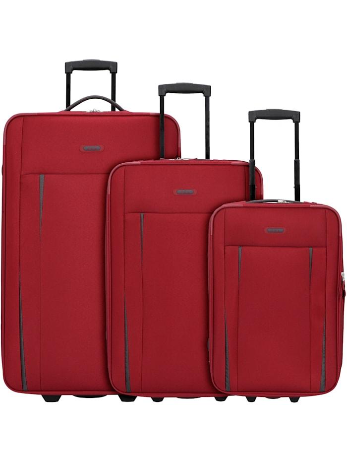 D&N Travel Line 9300 2-Rollen Kofferset 3tlg. 3-teilig, bordeaux