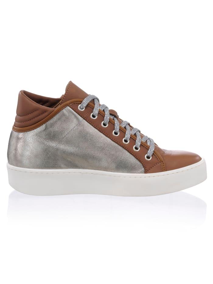 High Top-Sneaker im Optiken-Mix
