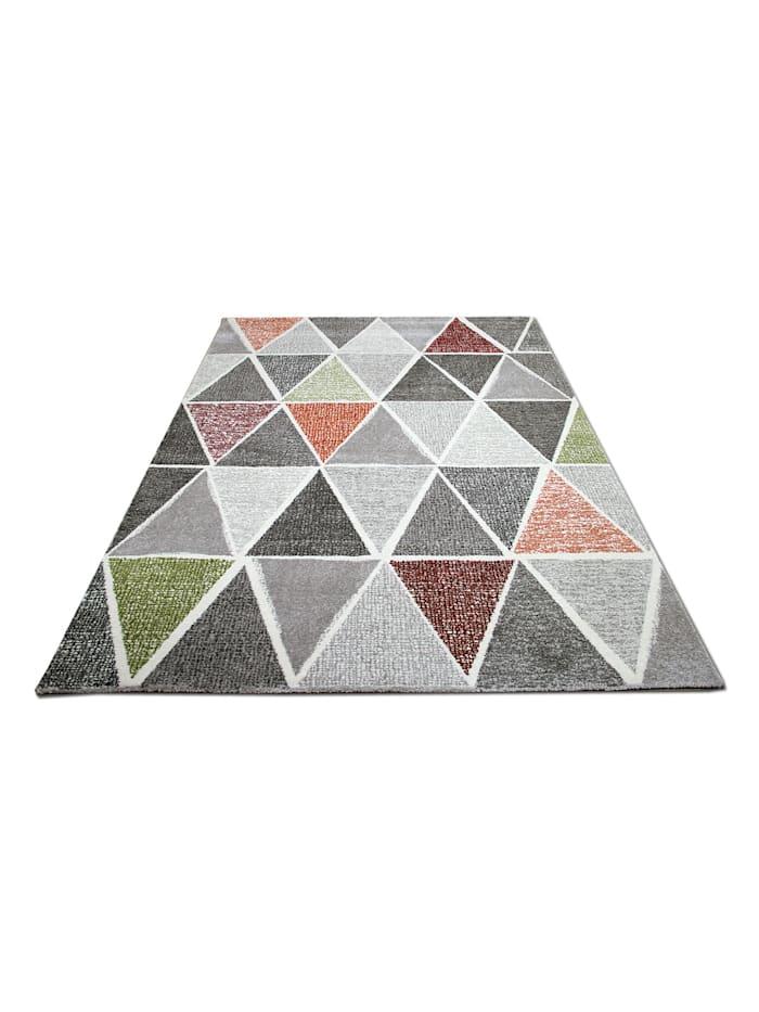 Pergamon Designer Teppich Sevilla Modern Grau Bunt Prisma, Bunt